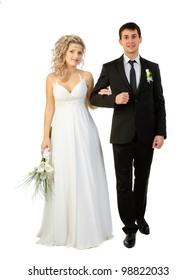 Wedding on a white background