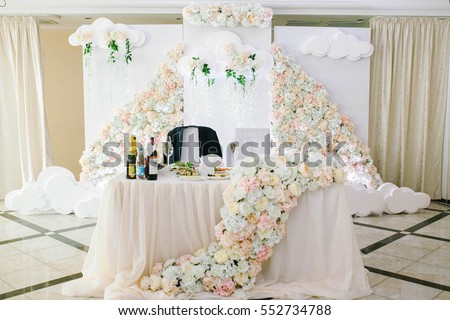 Wedding Party Decor Bride Groom Table Stock Photo Edit Now