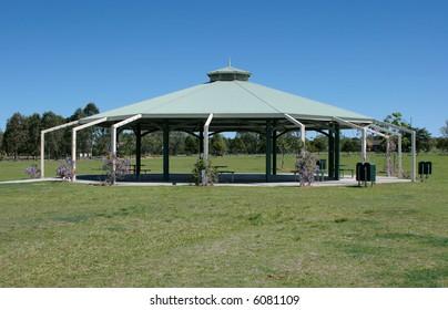 Wedding pavilion in the park
