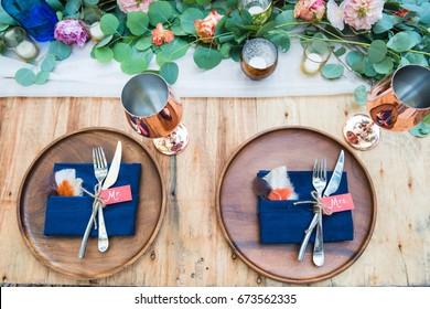 Wedding Plates Setup