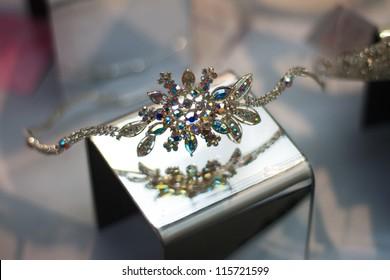 Wedding or Prom Colorful Jewel Headpiece