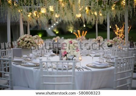 Wedding Reception Decoration Table Setup Stock Photo (Edit Now ...