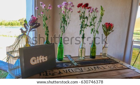 Wedding Reception Gift Table Set Decor Stock Photo Edit Now