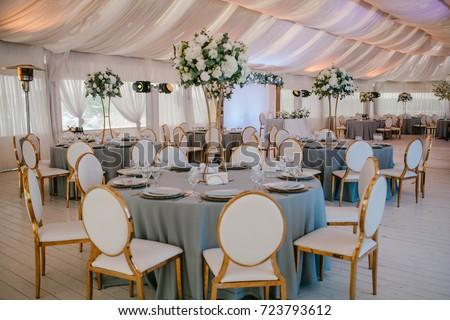 Wedding Reception Grey Wedding Decor Decor Stock Photo Edit Now