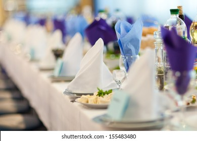 Wedding reception. Restaurant.