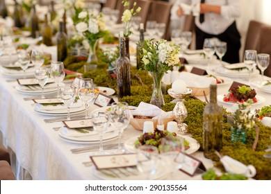 Wedding Reception.  Rustic .