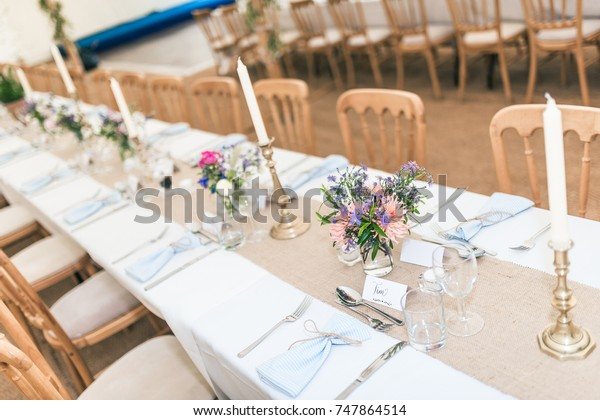 Wedding Reception Table Stock Photo (Edit Now) 747864514