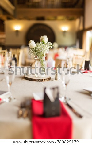 Wedding Reception Table Settings Stock Photo Edit Now 760625179