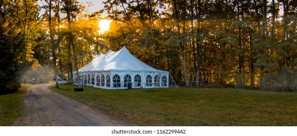 Wedding Reception Tent at Sunrise