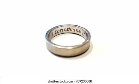 wedding ring 1 corinthians 13
