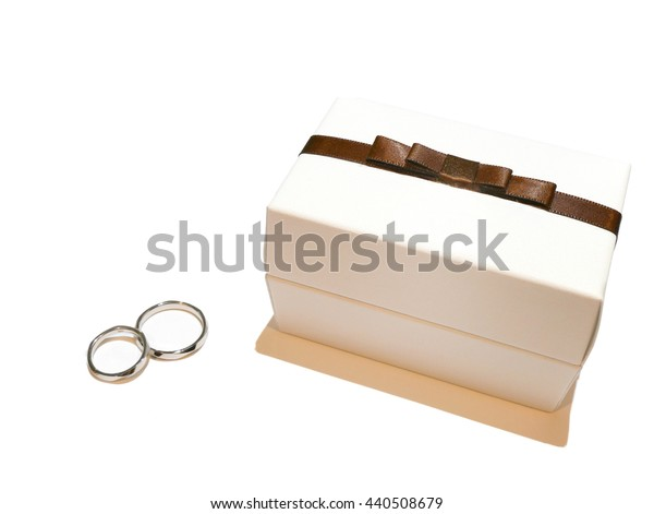 Wedding ring and box