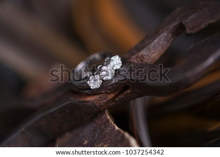 Wedding Ring Creative Background Stock Photo Edit Now 1037254342