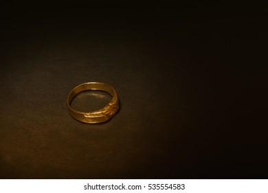 Wedding ring in isolation