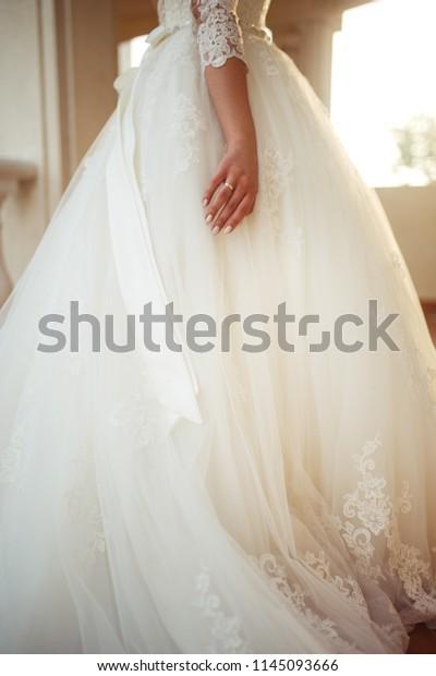 Wedding Ring On Hand Nice Girl Royalty Free Stock Image