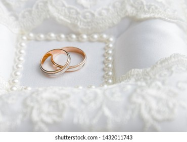 wedding ring.lie on the substrate in the registry office