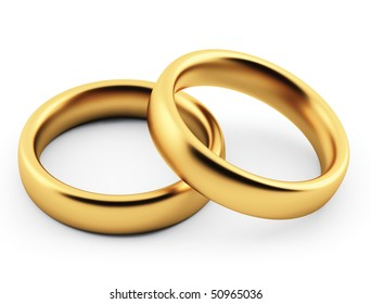 Wedding rings. 3d