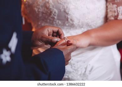 Wedding Rings Bridge Groom Hands