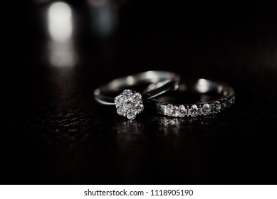 Wedding rings with a diamond