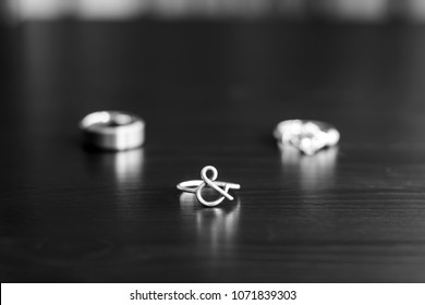 Wedding Rings Displayed