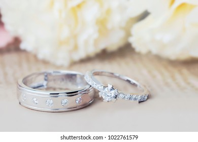wedding rings, Engagement rings,Wedding rings on background 