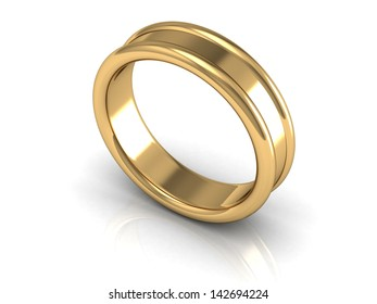 wedding rings (high resolution 3D image)