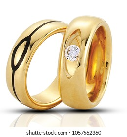 wedding rings isolated