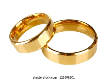 Wedding rings isolated on white