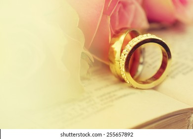 Wedding Rings On Bible Stock Images RoyaltyFree Images Vectors