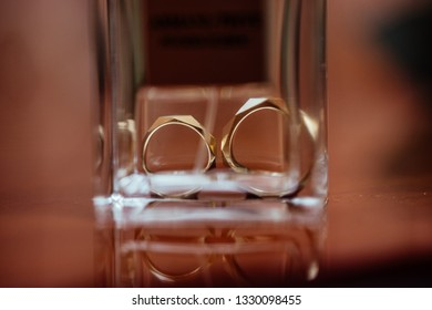 Wedding rings and perfumes