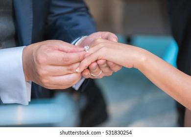 Wedding rings. Selective focus.