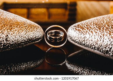 Wedding rings and shoes