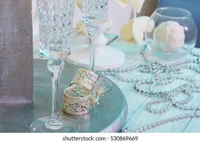 wedding rings.decoration still life.beauty card.saint Valentine