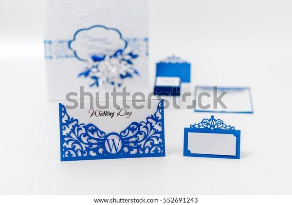 Wedding Set Index Card Wedding Invitation Stock Photo (Edit