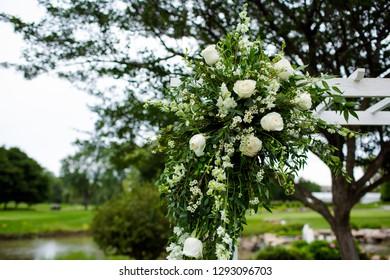 wedding set up. Decoration for a wedding. Flower decoration