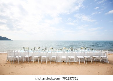 Wedding setting on the beach