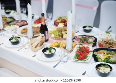 Wedding Setup. Food.