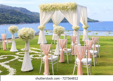 Wedding setup seaview