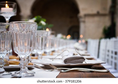 Wedding shabby chic table