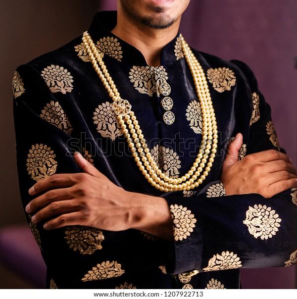49c127f4b1 Wedding Sherwani Worn By Indian Groom Stock Photo (Edit Now) 1207922713