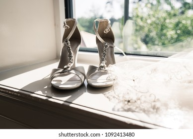 Wedding Shoes and Wedding Veil