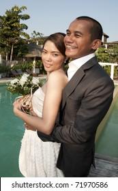 wedding shoot of young asian couple