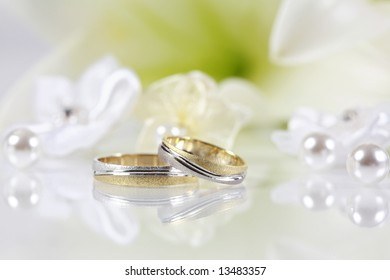 Wedding still life in white