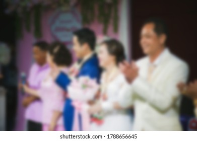 Wedding style abstract blur background