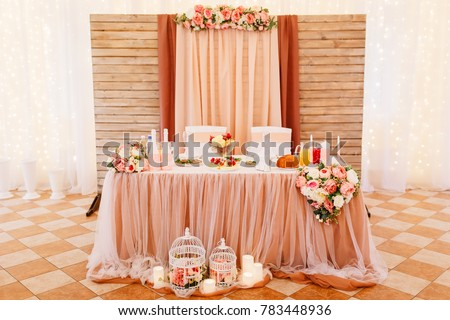 Wedding Style Vintage Table Decoration Cages Stock Photo Edit Now