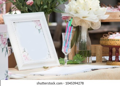 Wedding summer outdoor registration decoration of the table,Wedding concept