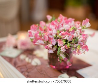 Wedding Sweet Pea Table Center Piece