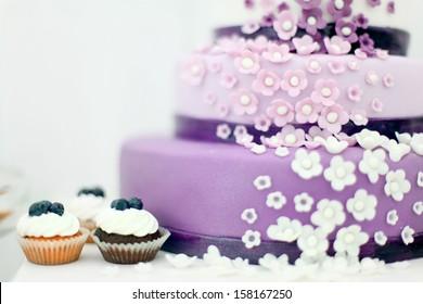 Wedding sweets, blueberry cake