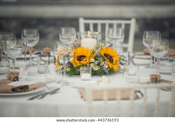 Wedding Table Stock Photo (Edit Now) 443736193