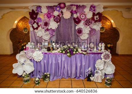 Wedding Table Bride Groom Wedding Decoration Stockfoto Jetzt