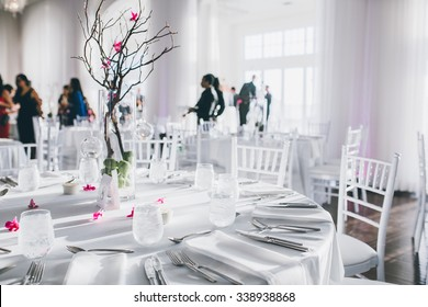 Wedding table and a centerpiece on it